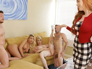 Step Sibling Foursome Fuck In Front Of Bi Step Mom SE Carmen Caliente, Jake Adams, Kyle Mason