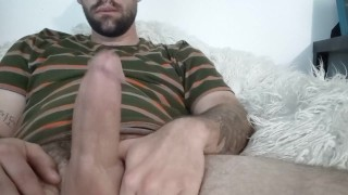 Stroking fat cock fucking Fleshlight and shooting huge load