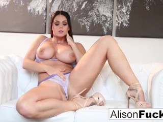 Amazing Alison Tyler rubs herself to a sexy conclusion Alison Tyler