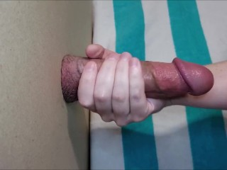 Glory hole extracting delicious cum sample Dripping