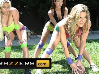 Brazzers Hot teens Kaylla & Capri share huge cock after football match Johnny Sins, kayla paige