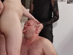 Teen Goth Domina Help Her Father To Facefuck Slave Pt1 Hd