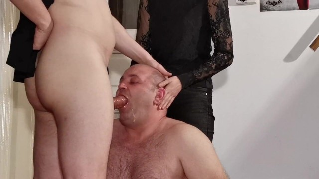 Kinky sexy costumes - Teen goth domina help her dad to facefuck slave pt1 hd