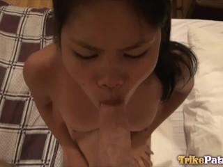 TRIKEPATROL Asian Friend Watches Lesbian Girlfriend Try Dick