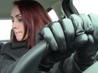 leather gloves drinking