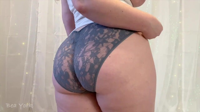 Butt and ass and panty videos Preview of teasing and cumming in my lace panties