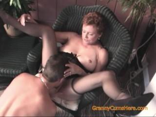 Bi Granny Sucks Fucks and Wants Her Pussy Licked