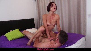 Karups - Older Redhead Stella Banks Cheats On Husband With Her Trainer