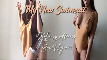 My new swimsuit - Katie Adam's Sex Vlog #001 -