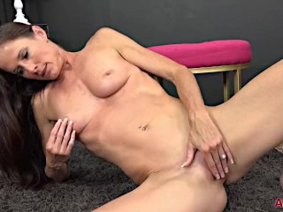 Naughty MILF Sofie Marie Pantystuffing Wet Pussy Fun