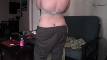 Cleaning House In Sagging Pants - Butt Crack Exposed