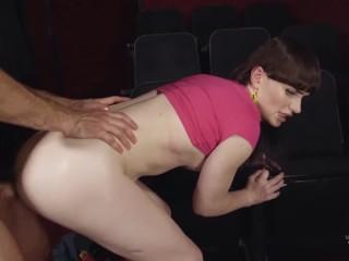 Transangels – Cute small tit Tranny Natalie Mars sucks cock