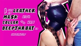 Porno caliente - Teaser Me Puse Una Máscara De Cuero Con Cuello Y Me Tragaron La Garganta