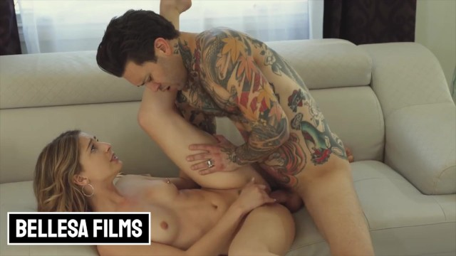 Bellesa - Skinny Kristen Scott gets pounded by inked dude