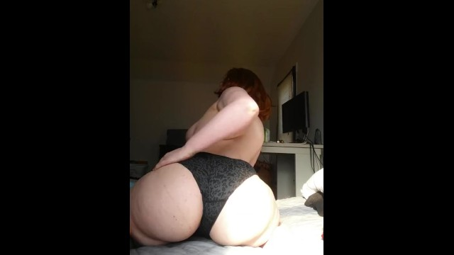 Fat hairy redhead Chubby redhead nerd gives you a strip tease fuck and blowjob