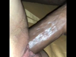 Cheating GF lets BBC cum inside her