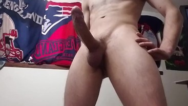 Hot stud plays with his monster cock till cumshot 2