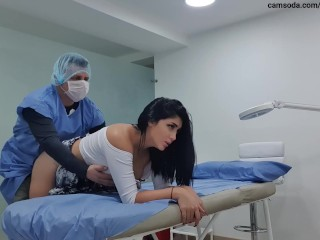 I tease my doctor and he finish fucking me