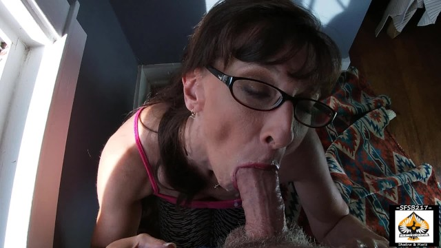 Cum in grandmas mouth - Sexy granny show cum mouth swallow compilation