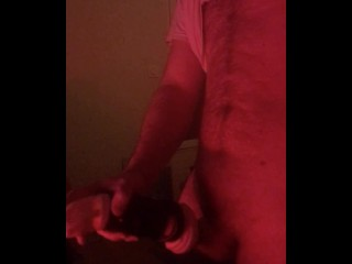 Come spit on my dick Solo male Red Light & pocket pussy