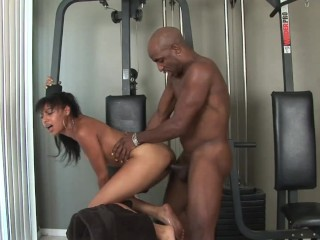 Barely Legal Petite Ebony Share Step Bro's BBC to Big Booty Brunette Friend