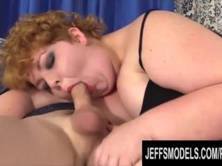 Jeffs Models – Fat Redhead Teen Velma Voodoo Blowjob Compilation Part 2
