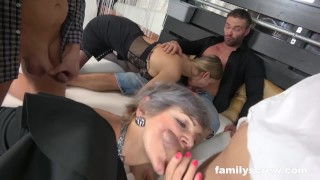 Swinger StepFamily Cums by the Club