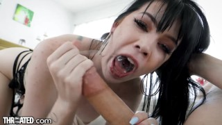 Throated - Big Titty Goth GF Swallows Dick Whole
