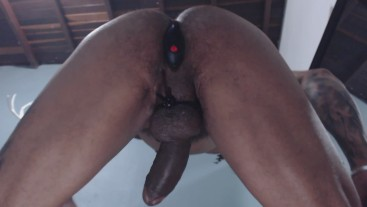 stiff cock with prostate massage