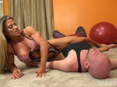 Sexy Maria G And Her Huge Titties Finds Herself Grappling Another Hapless Male