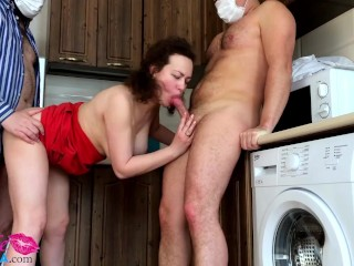 Hotwife Passionate Blowjob and Hardcore Fucking Dick - Group Sex