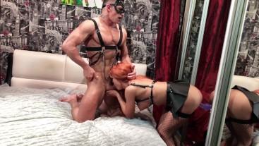 Sexy Girl Hard Fuck Bunny and Sucking Sex Toys - Oral Creampie