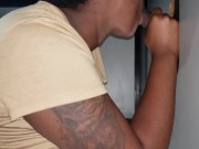 amateur ebony teen step sis caught blowing bbc at public gloryhole 2nd view