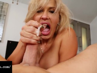 Gagging Goddess Savana es Throat Fucks Miles Long's Cock Savana Styles