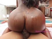Viviane Silva Has Her Big Chocolate TS Booty Rammed