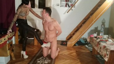 DominaAss kicking her worthless slave HD FULL