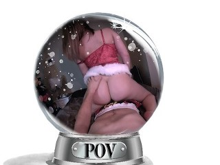 Young Blonde POV Holiday Creampie