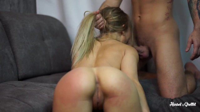 Teen sporty girl likes spanking ass before fuck and cum in her mouth