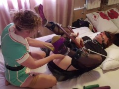 Tgirl Breezy Lucy Gets Bound Up And Pegged By Latex Nurse Essex Woman Lisa