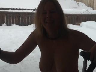 Shibari in the snow!