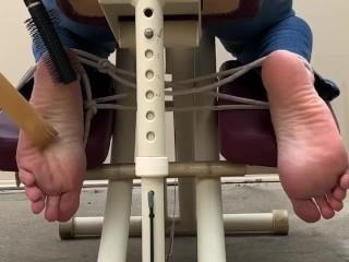 Massage chair feet tickling- torture