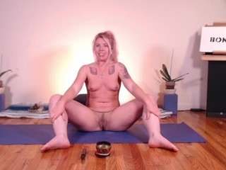 Teacher/naked stretching with b