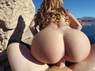 Amateur Adventure Porn – Molly Pills – Lakeside Fucking POV