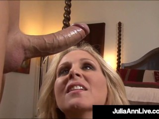 Mommy We'd Like To Fuck Julia Ann Milks Cock With Mouth Julia Ann
