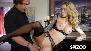 Lucky Waiter Gets To Fuck His Busty inked MILF Client Spizoo