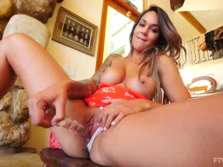 Gorgeous Big Titties MILF Alex Zara Naked Masturbating Outdoors