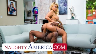 Naughty America Bridgette B fucks husband's bully to forgive debt