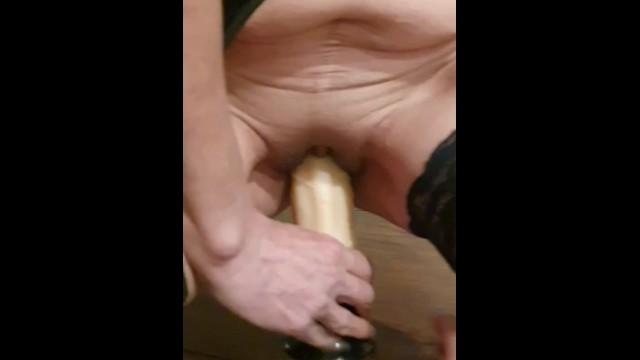 Huge streched assholes ics - Stretching my pussy with my huge dildo