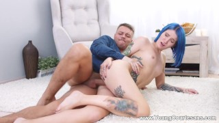 Young Courtesans - Keoki Star - Blue-haired courtesan fucking