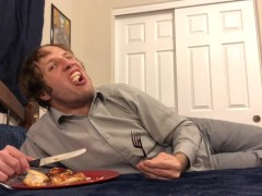 Guy Eats Chicken & Gives Gay JOI POV